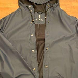 Navy blue Rains women's jacket